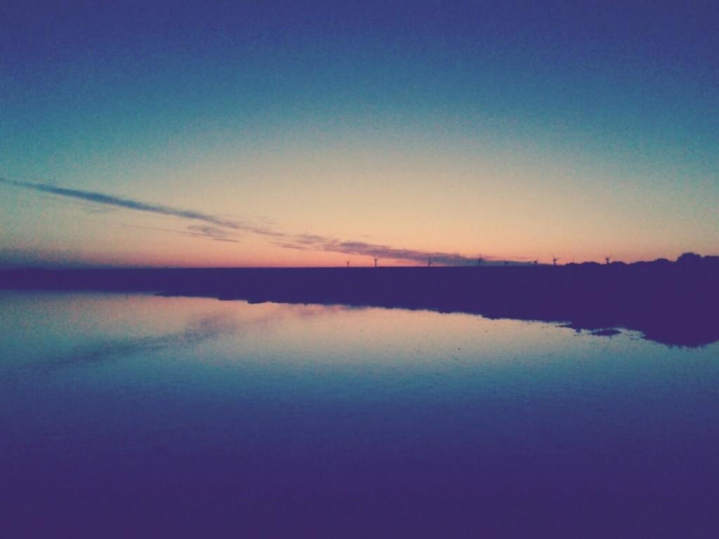 Sonnenaufgang an der Wremer Küste