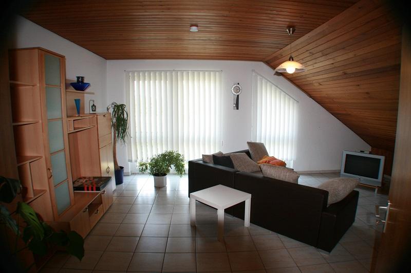 Ferienwohnung Wremen Nordsee Wohnzimmer